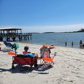 View of Little Tybee Island from South Beach