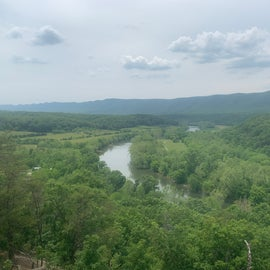The Shenandoah River from a great view point in the park.