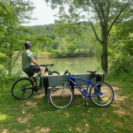 The River Trail was excellent and provided many view points along the way.  We recommend bringing your bikes to cover more area of this awesome park!