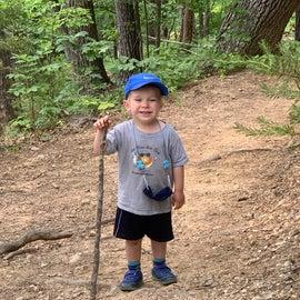 A happy hiker!