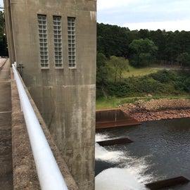 Nimrod Dam with low water