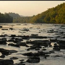 Sunrise on the river.