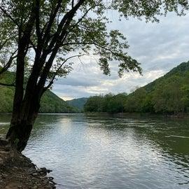 New River at Grandview Sandbar campground