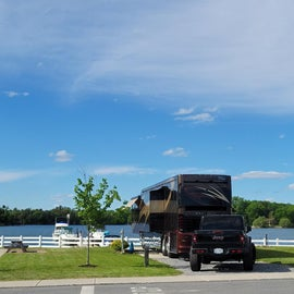 Waterfront sites are reserved for class A, B, and C only as they pull in forward.
