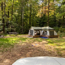 17'x21' family cabin tent fit fine!