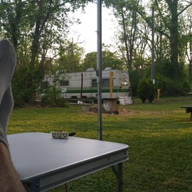 Resting on a beautiful evening