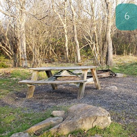 Site 6 Red Creek Campground