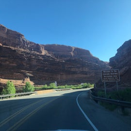 The drive to our campsite. If you can't snag Grandstaff, there are others along the way