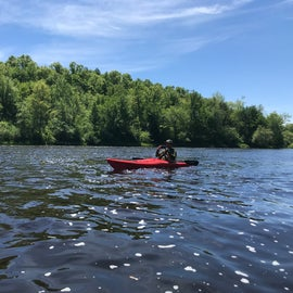 Very scenic waters upriver on St. Croix from Head of the Rapids launch point.  Just remember to paddle up stream so when you get tired you can float back to your car!