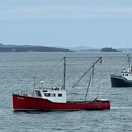 off shore at Lubec, ME