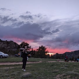 sunset at our campsite