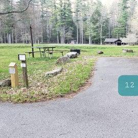 Site 12 Horseshoe Recreation Area CG