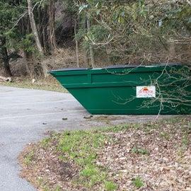 Trash available Horseshoe Recreation Area CG