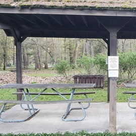 Smaller of the two picnic pavilions