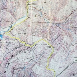 General map of the area showing hiking trails. I'd download something or bring a paper map