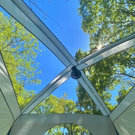 View from inside our tent. (without the fly over)
