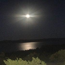 Moon over the lake.
