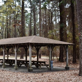 Picnic Shelter across from Cypress View Campground