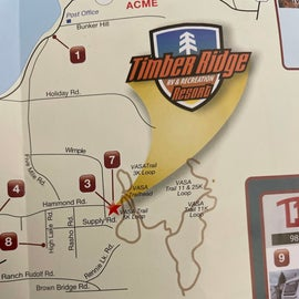 Timber Ridge trails connect to 26km VASA trail system!