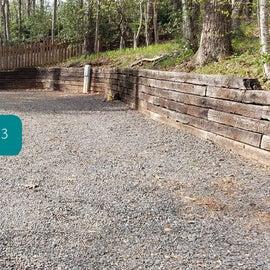 Fancy Gap Blue Ridge Pkwy KOA Site  43; pet backyard