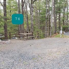 Fancy Gap Blue Ridge Pkwy KOA Site  74  & 72