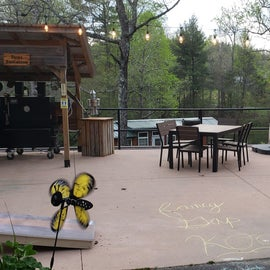 deck; they have a barbecue on the weeknds