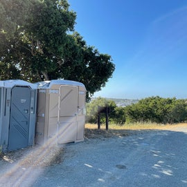 Porta Potties closer to the site than the walk to the bathroom