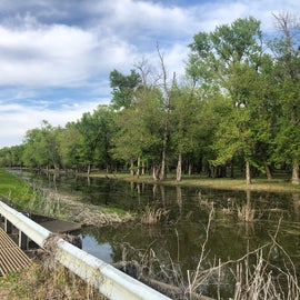 Hiking along the levees was peaceful