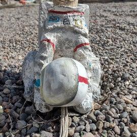 """AstroCat sculpture in the """"Garden"""""""