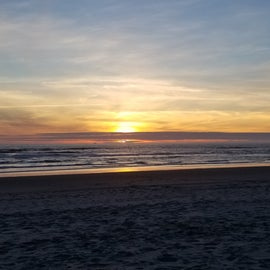 sunset from the beach