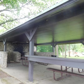 Many picnic areas at the Visitor Center