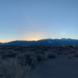 sunrise from the campground