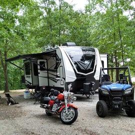 our campsite with the toys