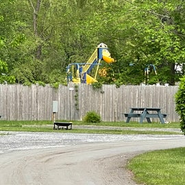 kids playground on other side of fence