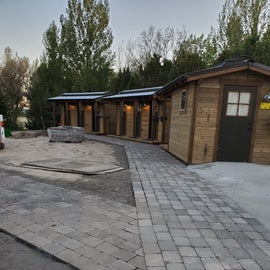 new restrooms and shower