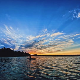 We rented kayaks and took them for a sunset cruise right on the lake.