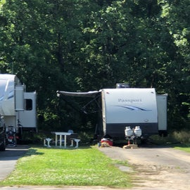 Great spots along both sides of back RV area