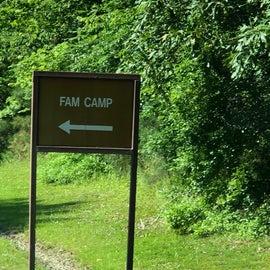 Fam Camp sign