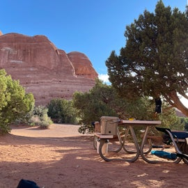 view from tent in the morning :-)