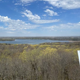 view of pike lake from top of tower