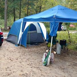 single tent setup