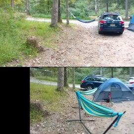 two tent setup comparison panorama