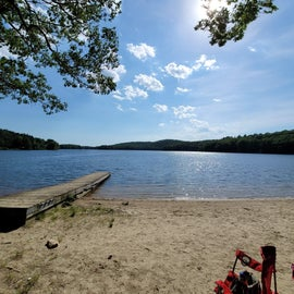 beach that is accessible through Sebago campground only, good for fishing! no swimming however