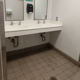 """""""Camp clean"""" bathrooms -- a little grimy but not gross"""