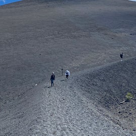 Start of Cinder Cone hike (Highly Recommend)
