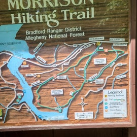 This hiking trail up the road towards Kinzua Dam is an awesome trail if you are a hiker.