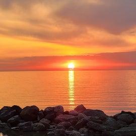 Lake Erie Sunset. Sheridan Bay USA