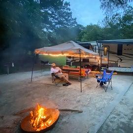 camp setup at site 19
