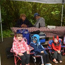 Even camping in the rain can be fun