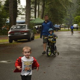 Camp loops are great for running and bike riding